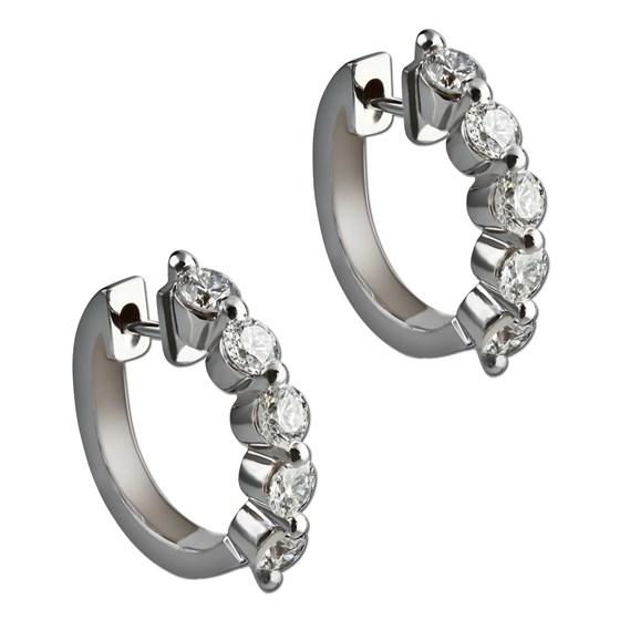 Five diamond earrings. Gottlieb & Sons 26651B