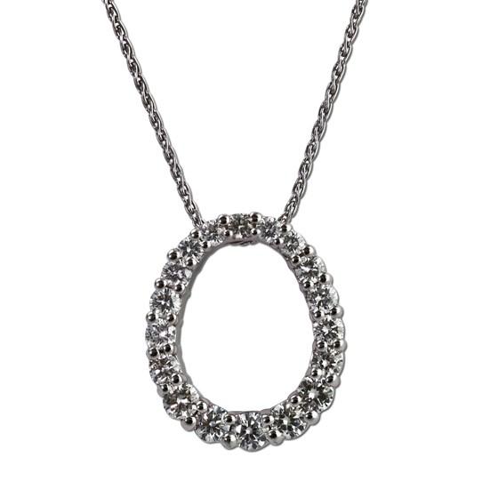Oval diamond graduated pendant. Gottlieb & Sons 29021B