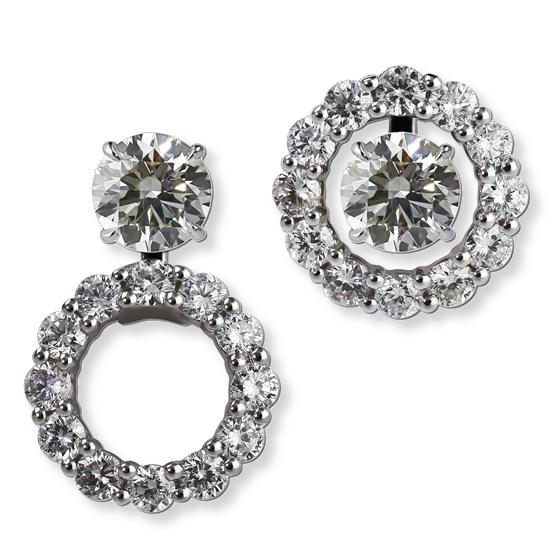 Convertible diamond earring jackets. Gottlieb & Sons 27794B