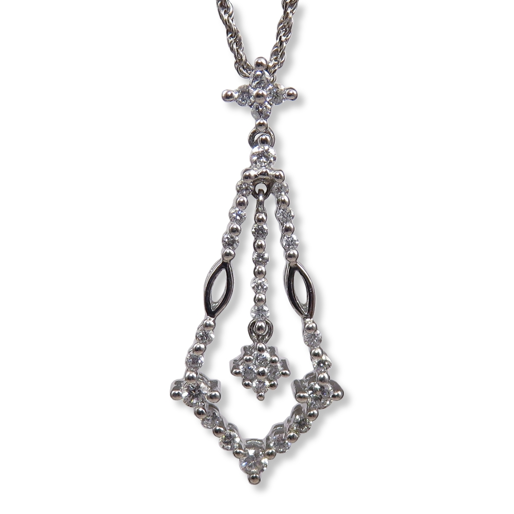 White gold and diamond pendant. SGS PK139
