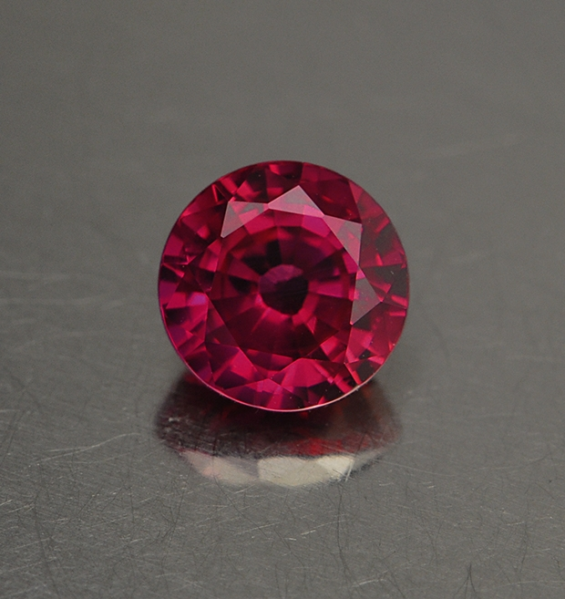 An unheated ruby. Most rubies and many gemstones are heated to enhance their color.