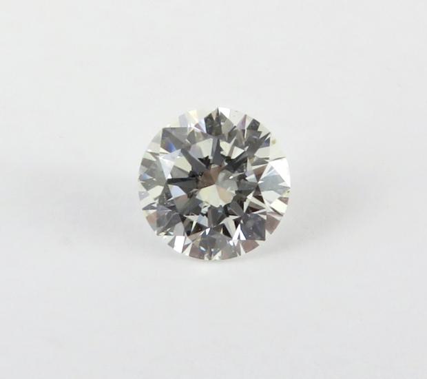 Round brilliant cut diamond.