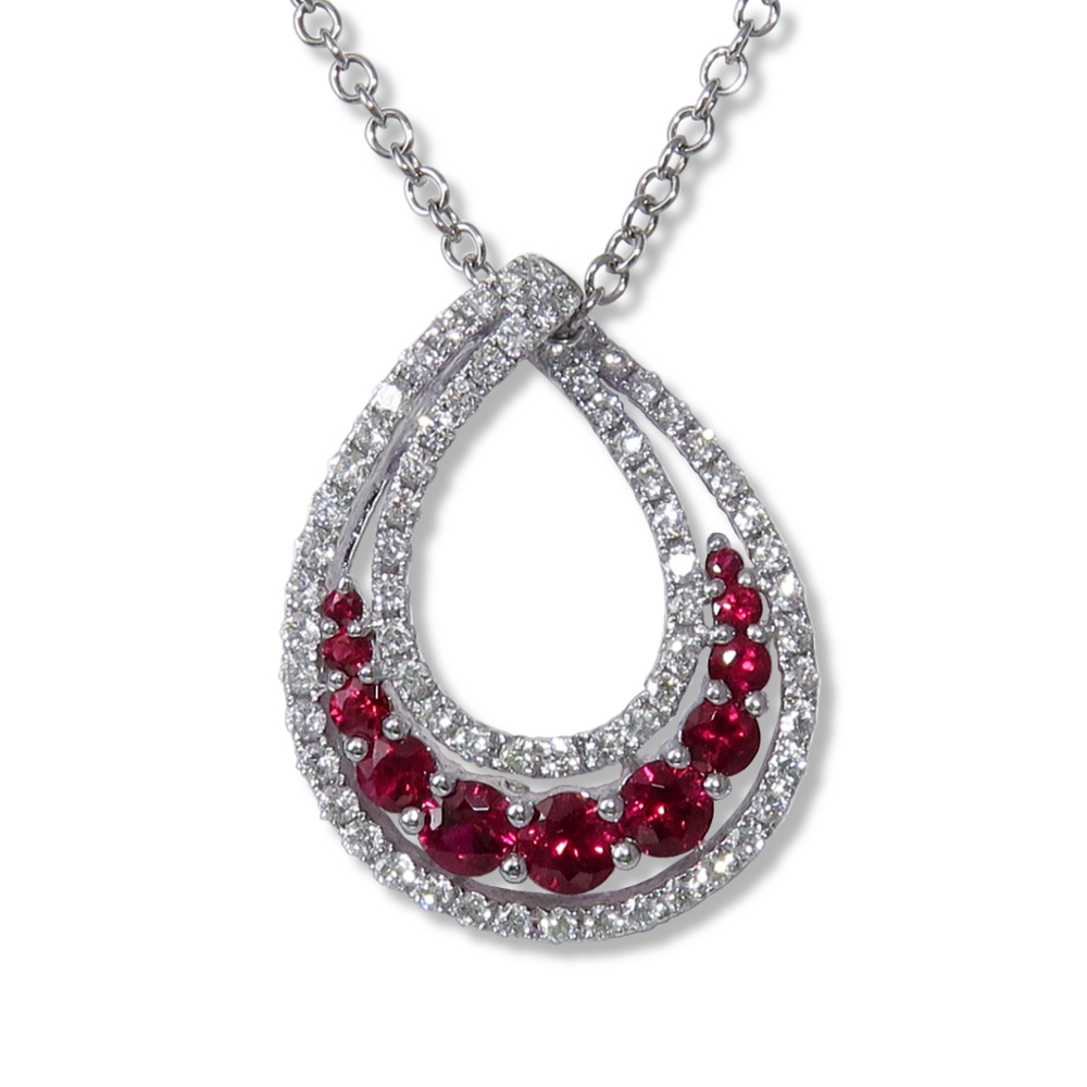 Ruby and diamond pendant. DiaExpressions
