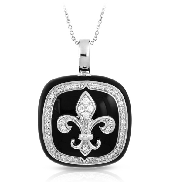 Fleur de Lis embodies the pure elegance and luxury of archetypal European flair. Illustrating a contemporary look at a classical design, this gorgeous set merges clean lines with rich sumptuous color. Made of sterling silver, hand-painted Italian enamel and pavé-set stones, Fleur de Lis will perfectly complement any ensemble.
