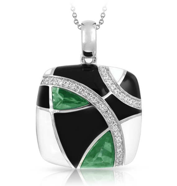Interlacing lines of sparkling pavé-set stones and sterling silver dance harmoniously in Tango, creating abstract shapes, colors and patterns. Dynamic and rich inlaid stones glimmer passionately through the eyelets of hand-painted Italian enamel. Embrace the movement and romance of Tango.