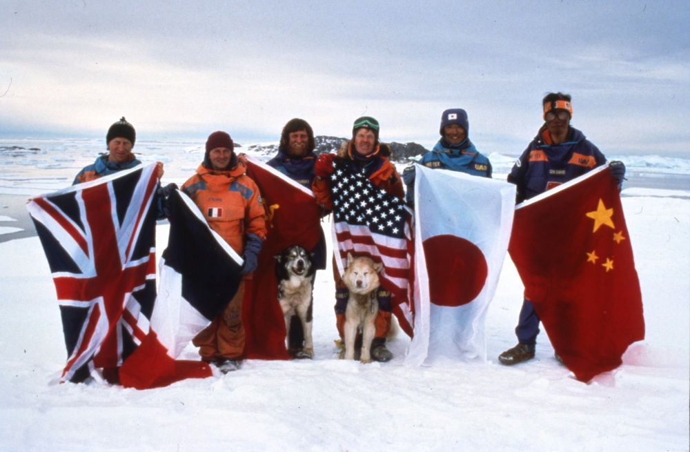 Happy Anniversary! The 1990 International Trans-Antarctica Expedition finish - Mirnyy, March 3, 1990. Photo © Will Steger - Per Breiehagen