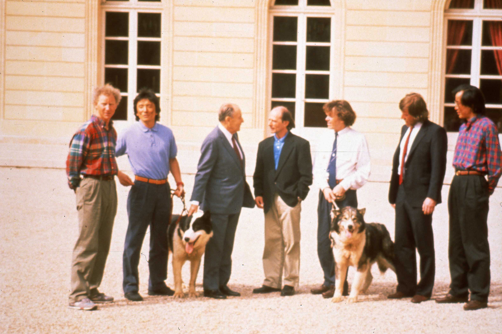 Team poses with French President François Mitterrand at the Élysée Palace in Paris, France. Photo: Francis Latreille