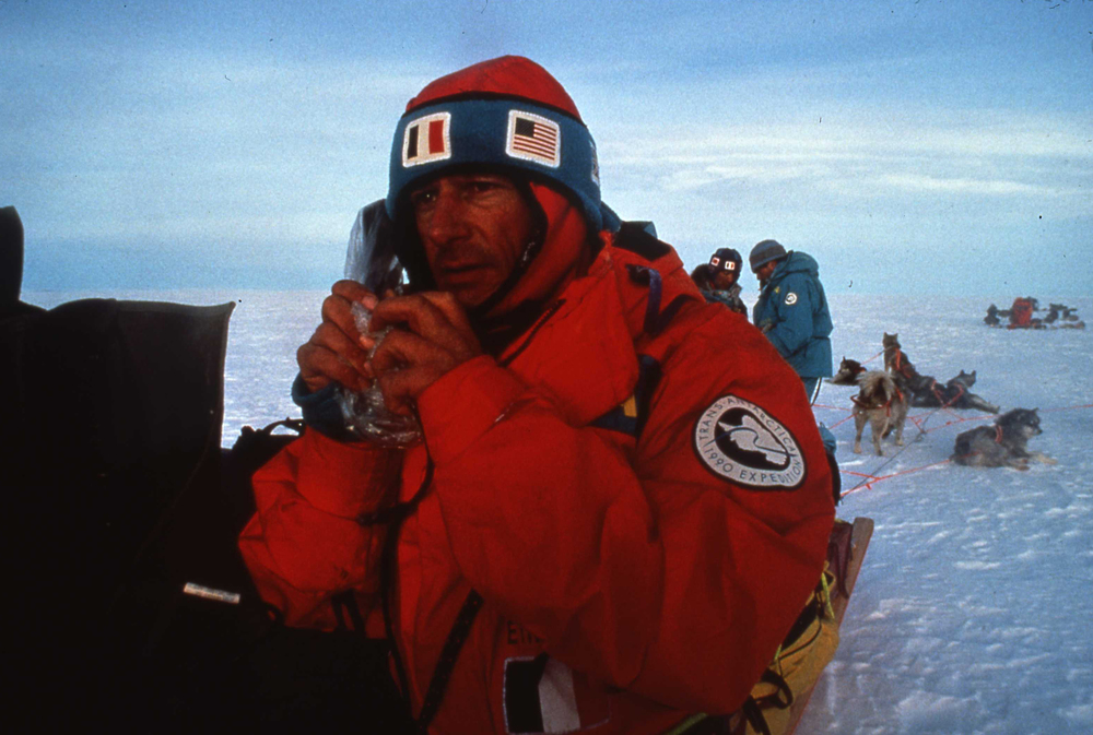 Jean-Louis Etienne used the team's 110-watt radio to reach the expedition's support crew every evening when conditions would allow. ©Will Steger