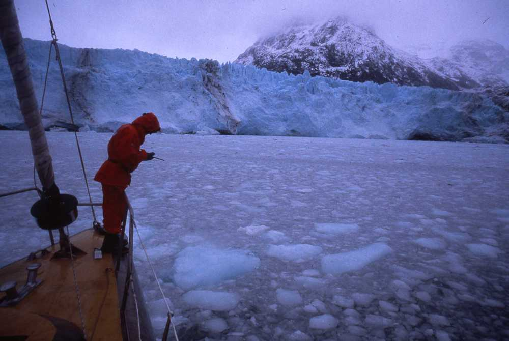 Criquet on the UAP ship in Antarctic waters. ©Will Steger by Francis Latreille.