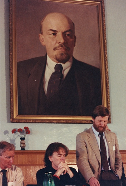 Victor answers questions from the Soviet press in Moscow, June 1999. Photo: Jennifer Gasperini