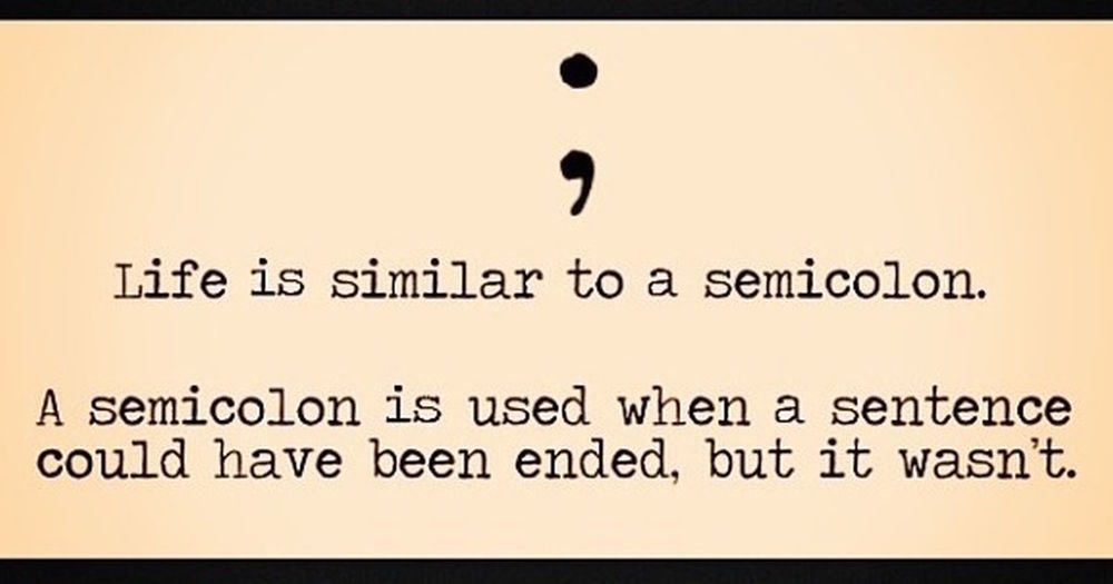 Click picture to learn more about the semi-colon project.