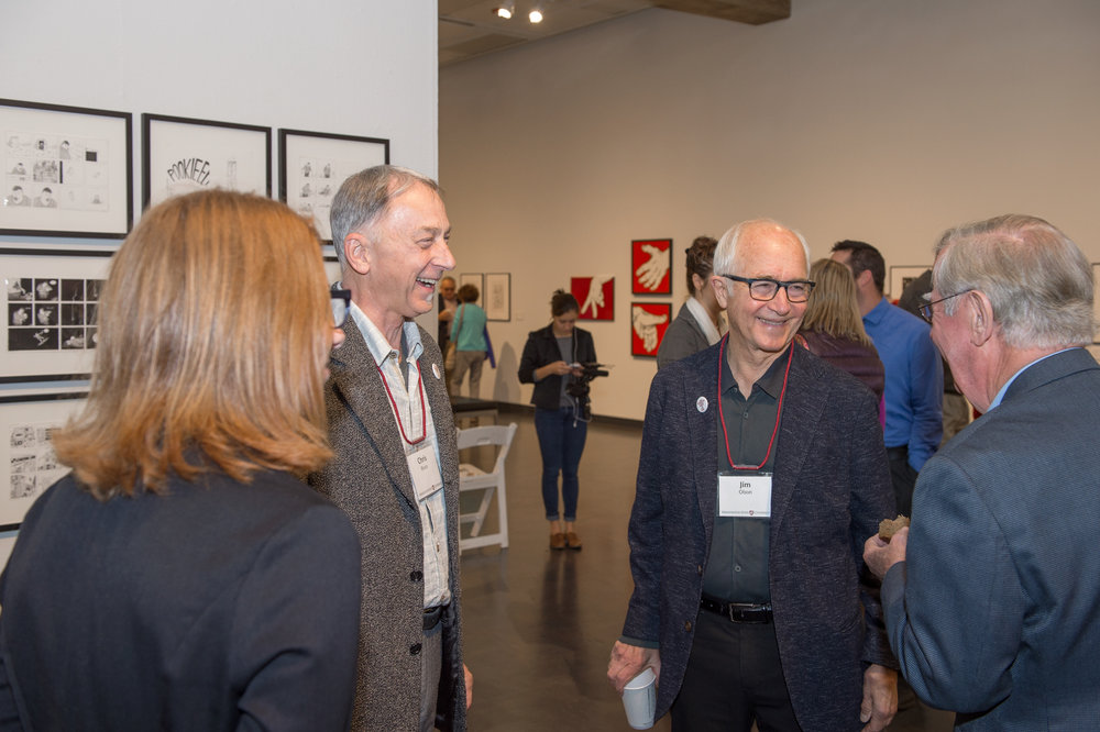 Chris Bruce, Director, Museum of Art/WSU; Jim Olson, Olson/Kundig; Sam Smith, President Emeritus, WSU