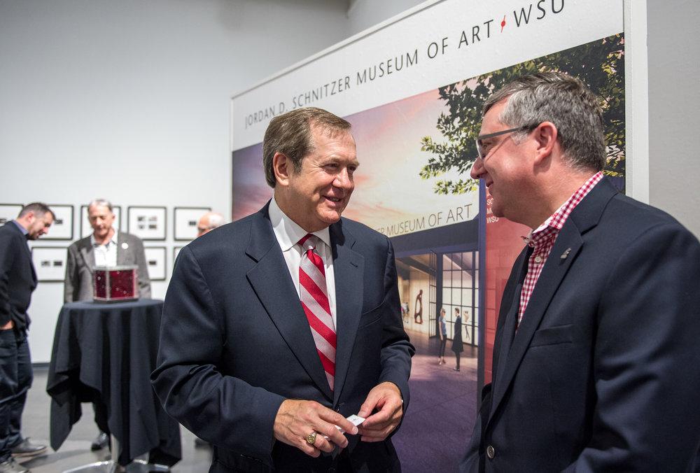 Jordan D. Schnitzer, Philanthropist; WSU President, Kirk Schulz