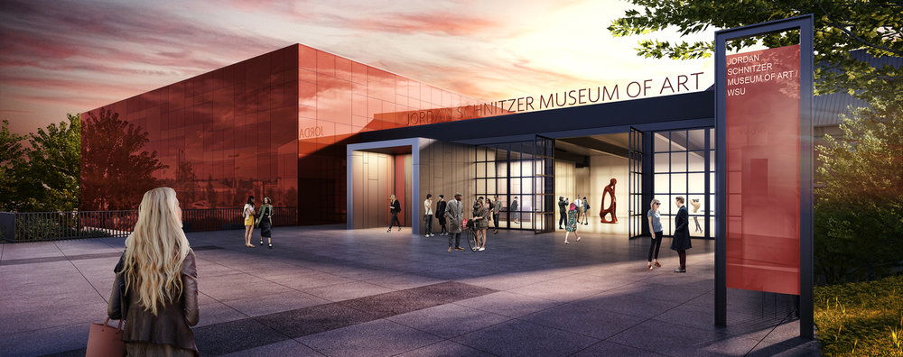 Renderings of the new Museum of Art at WSU by architect Olson Kundig, 2016.