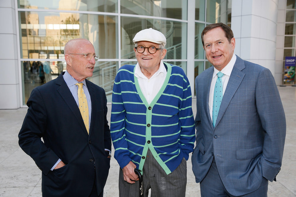James Cuno, David Hockney & Jordan D. Schnitzer