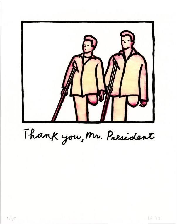 Ida Applebroog, Thank you, Mr. President, 2018.
