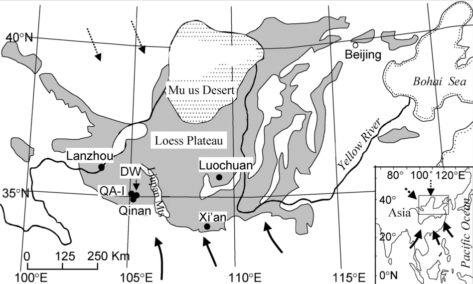 The Loess Plateau in China http://geology.gsapubs.org/content/34/5/405/F1.large.jpg