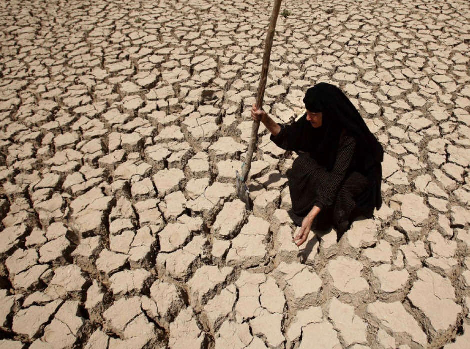 Drought in Syria.  Source .