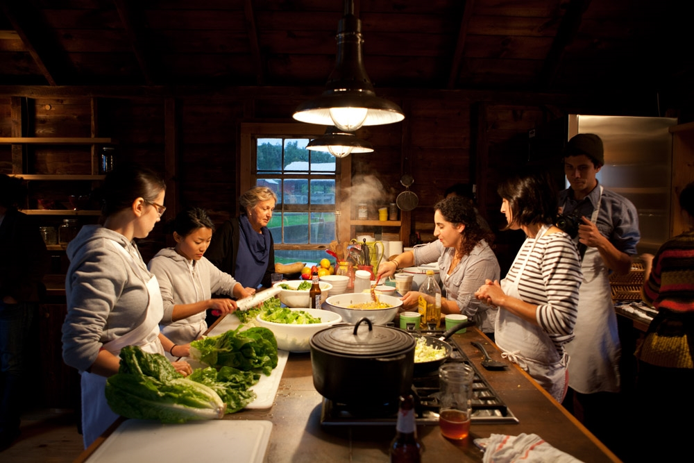 Farm dinner at Kinderhook Farm