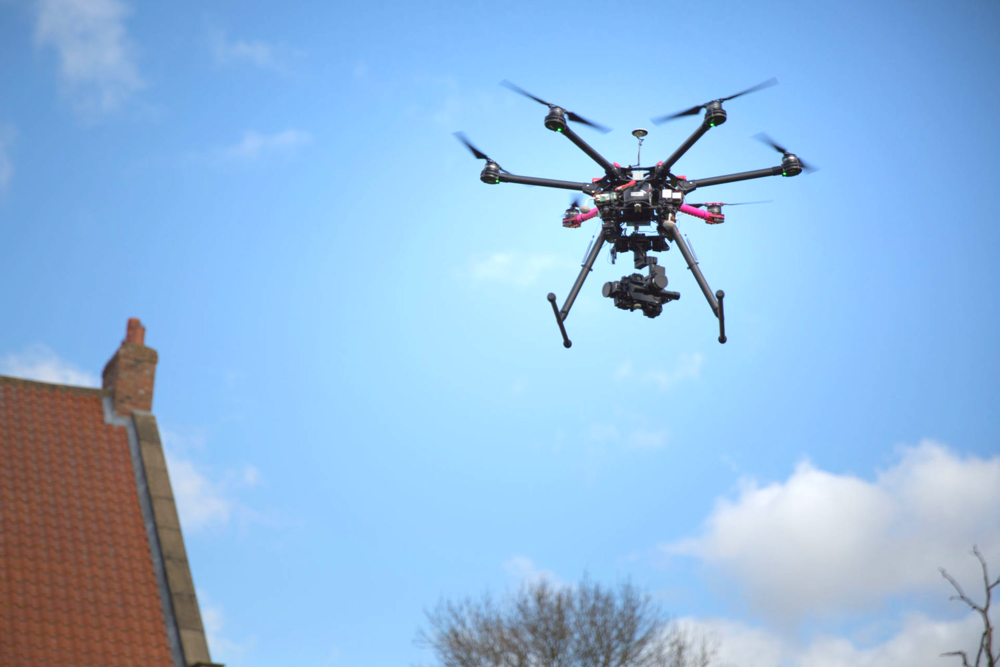 The Bakehouse Aerial Photography Drone in action