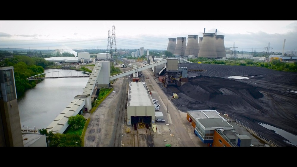 Bakehouse Aerial drone photography in an industrial area