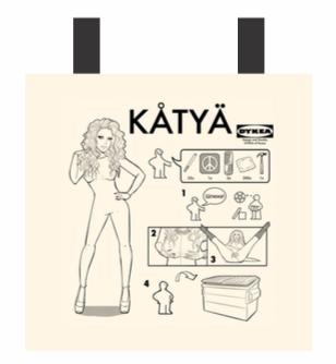 Katya's Dykea Tote Bag