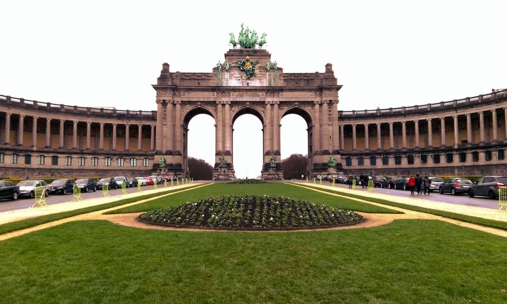 triumphal arch, parc du cinquantenaire