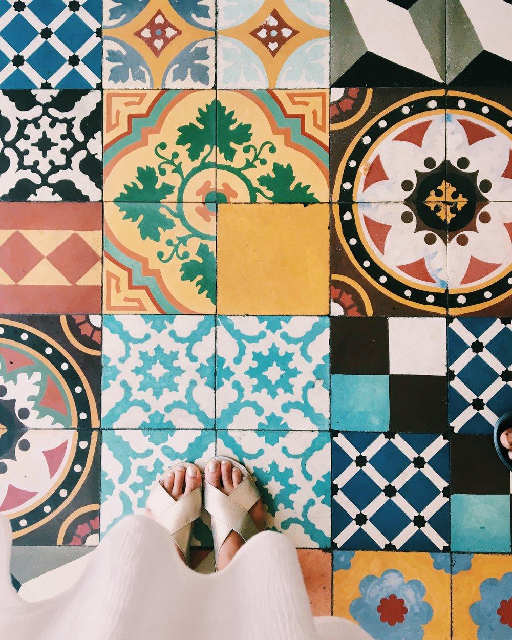 beautifully tiled floor in azucar