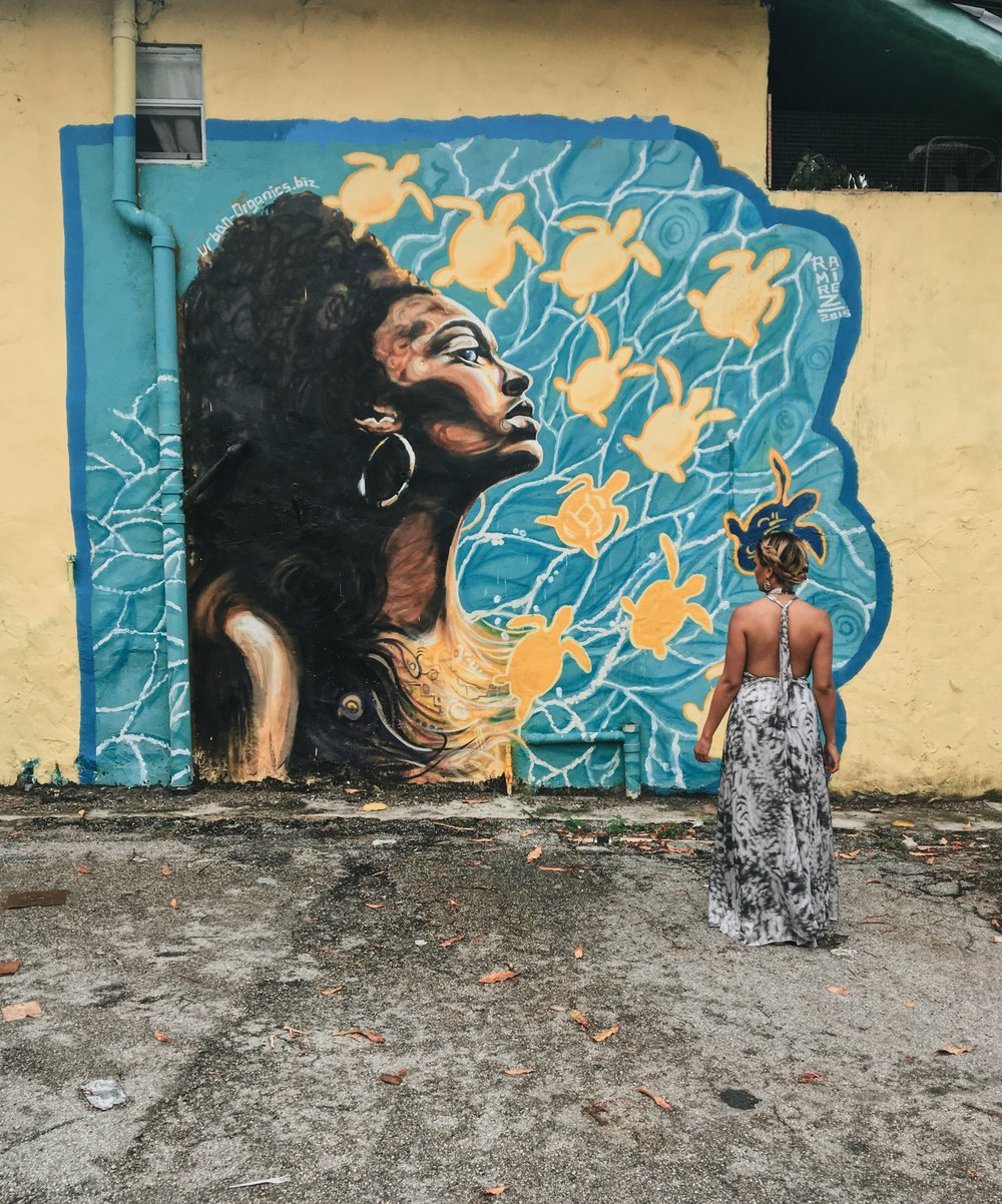 street art in little haiti - obviously i wore a long heavy maxi because i thought that would be convenient