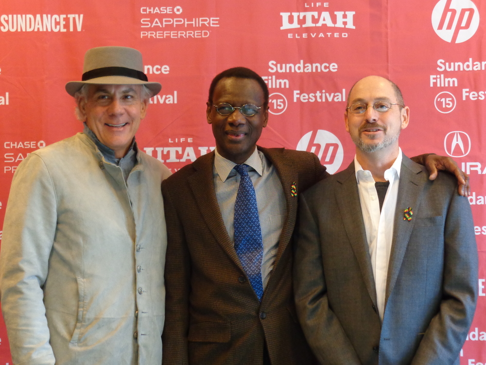 Directors Samba Gadjigo and Jason Silverman with producer Bill Conway - Sundance Film Festival 2015.