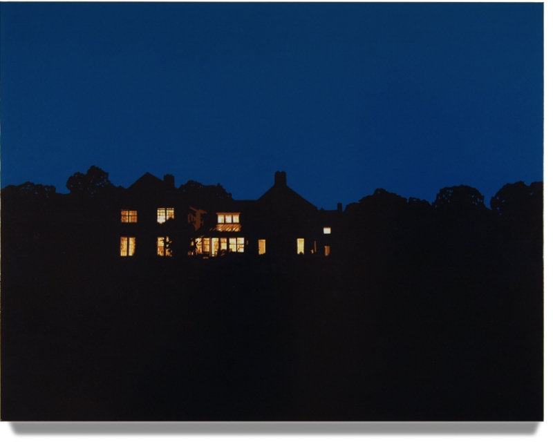 House At Night IV (Washington, CT)  2014, 42 x 50, Oil on Linen