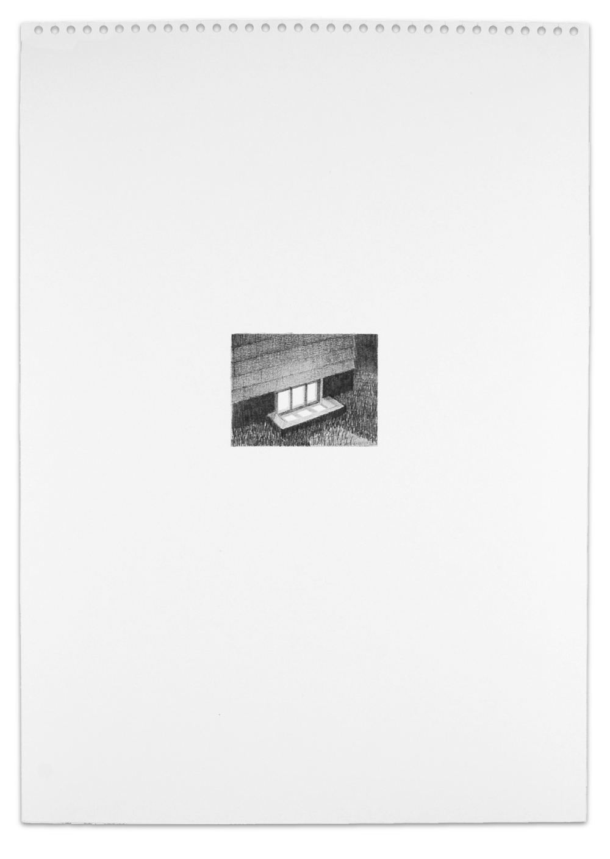 Secret (Basement), Graphite on Paper,  16.5  x 11.5