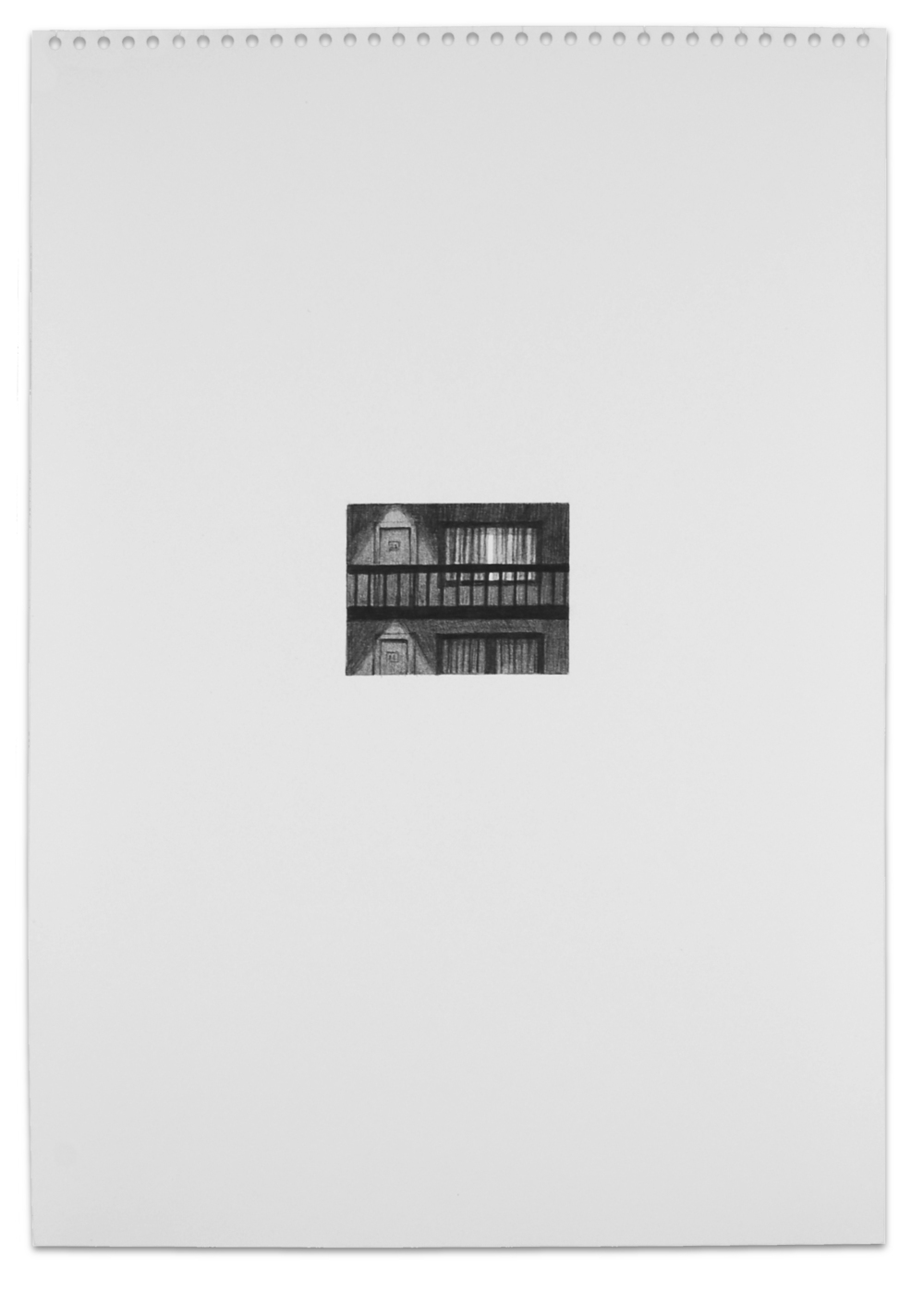 Secret (Motel), Graphite on Paper,16.5x 11.5