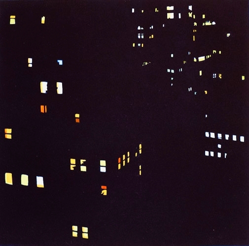 New Amsterdam No. 1, Hand Painted Aquatint Etching, 12 x 12 (Detail)