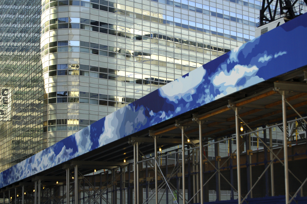 Restore The View,  Barclay St, NYC,   digitally mural on vinyl, 4' x 75'