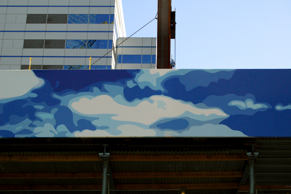 (detail), Barclay St. NYC, digital mural on vinyl, 4' x 188'