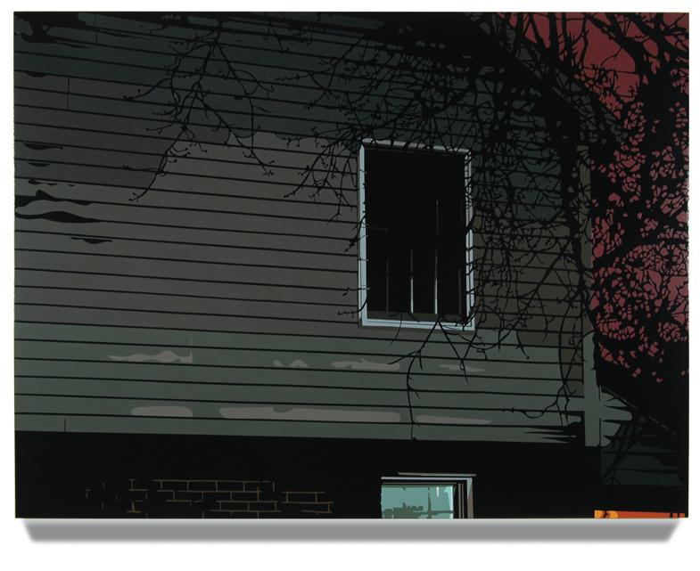 Side of House, 45 x 60, Oil Enamel on Canvas