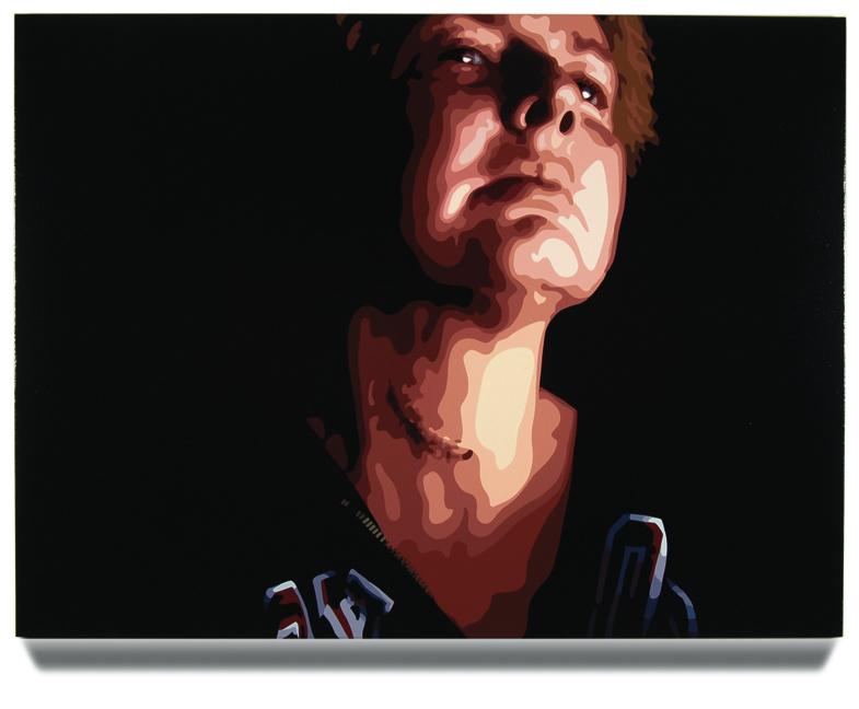Scar, 45 x 60, Oil Enamel on Canvas