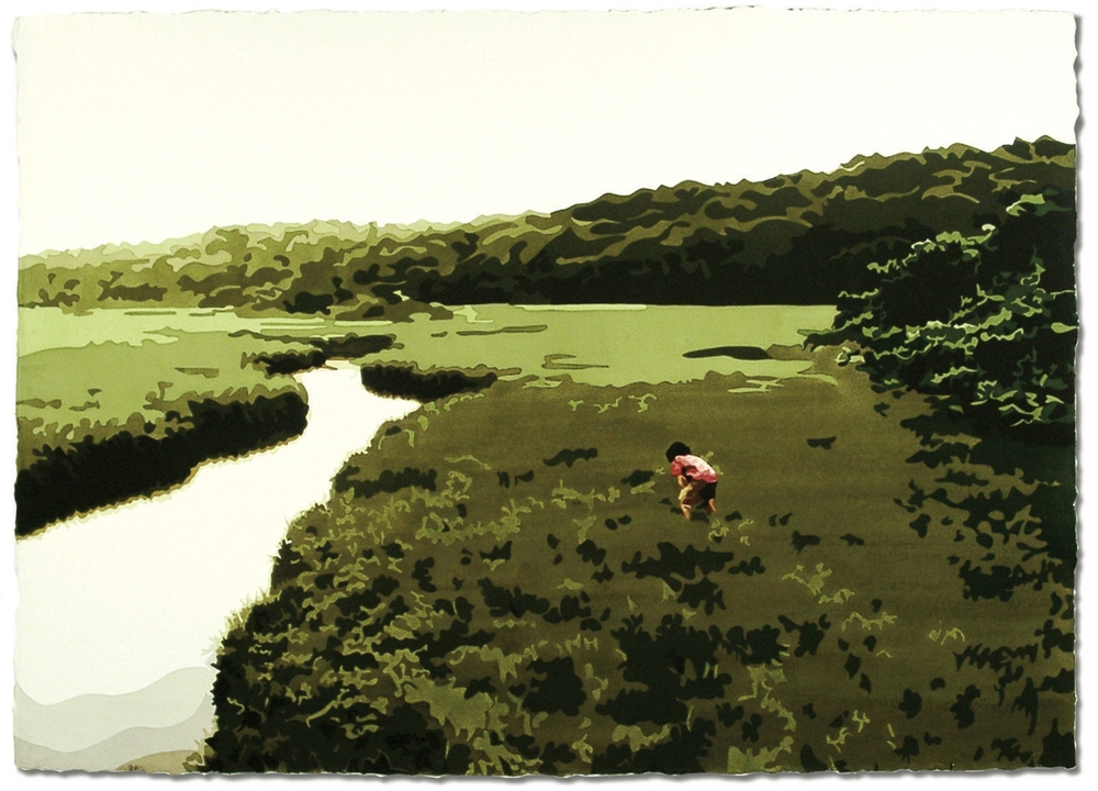 Menemsha Bog, 29 x 41, Watercolor on paper