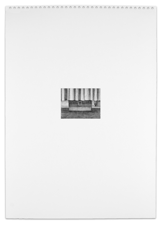 Secret (Lock Box), Graphite on Paper,  16.5  x 11.5