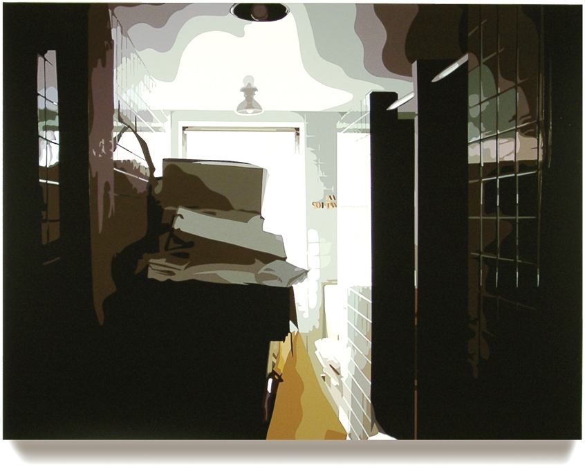 Overbrook III, 45 x 60, Oil enamel on canvas