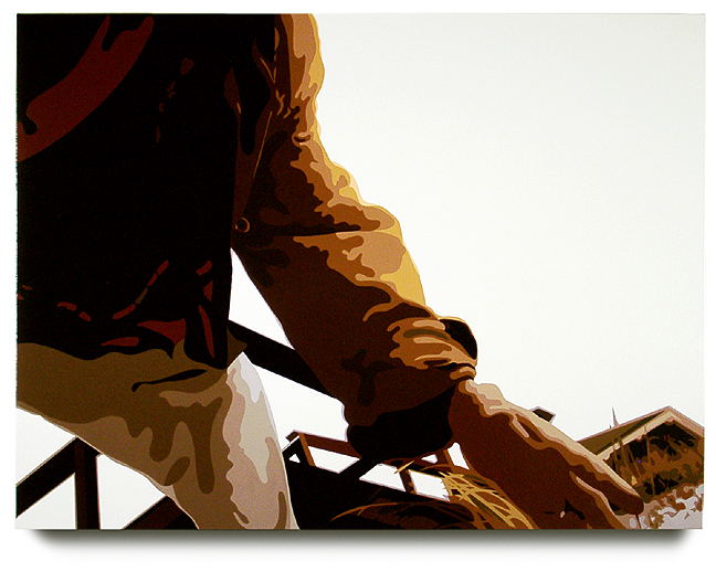 Dune, 32x 43, Oil enamel on canvas