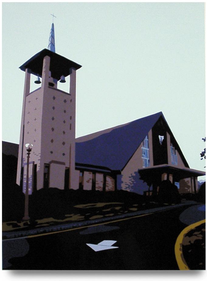 Notre Dame, 29.75x 22.5  Oil enamel on paper