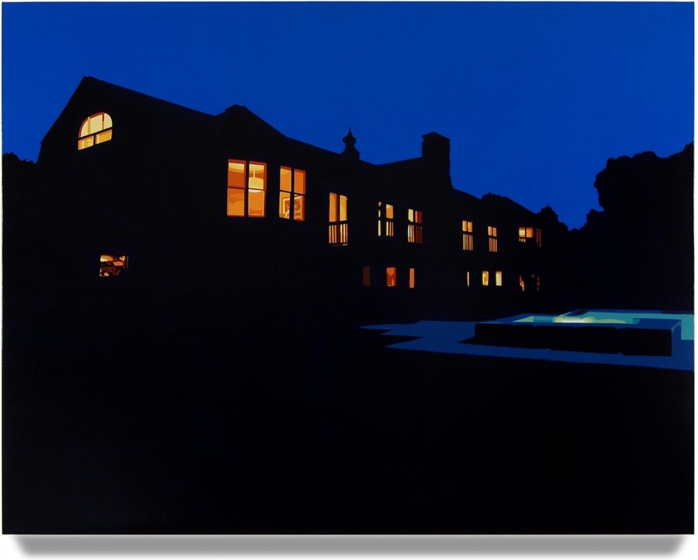 House at Night VII (Roxbury, CT), 2014, 42 x 55, Oil on linen