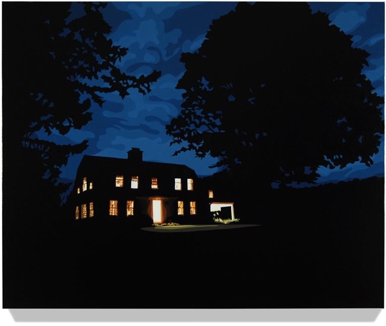 House at Night III (Washington, CT), 2013, 32 x 43, Oil on linen