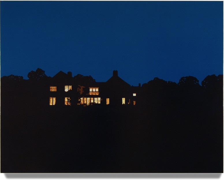 House at Night IV (Washington, CT), 2013, 42 x 50, Oil on linen
