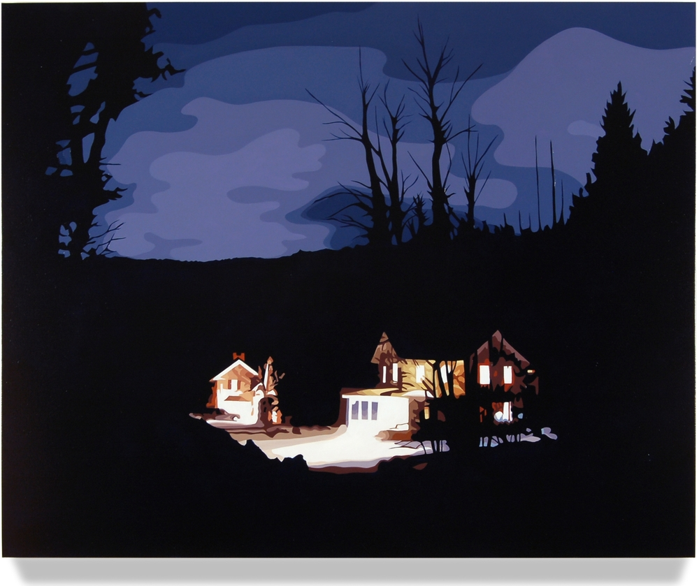 House at Night II (Bantam, CT), 2012, 32 x 40, Oil on canvas