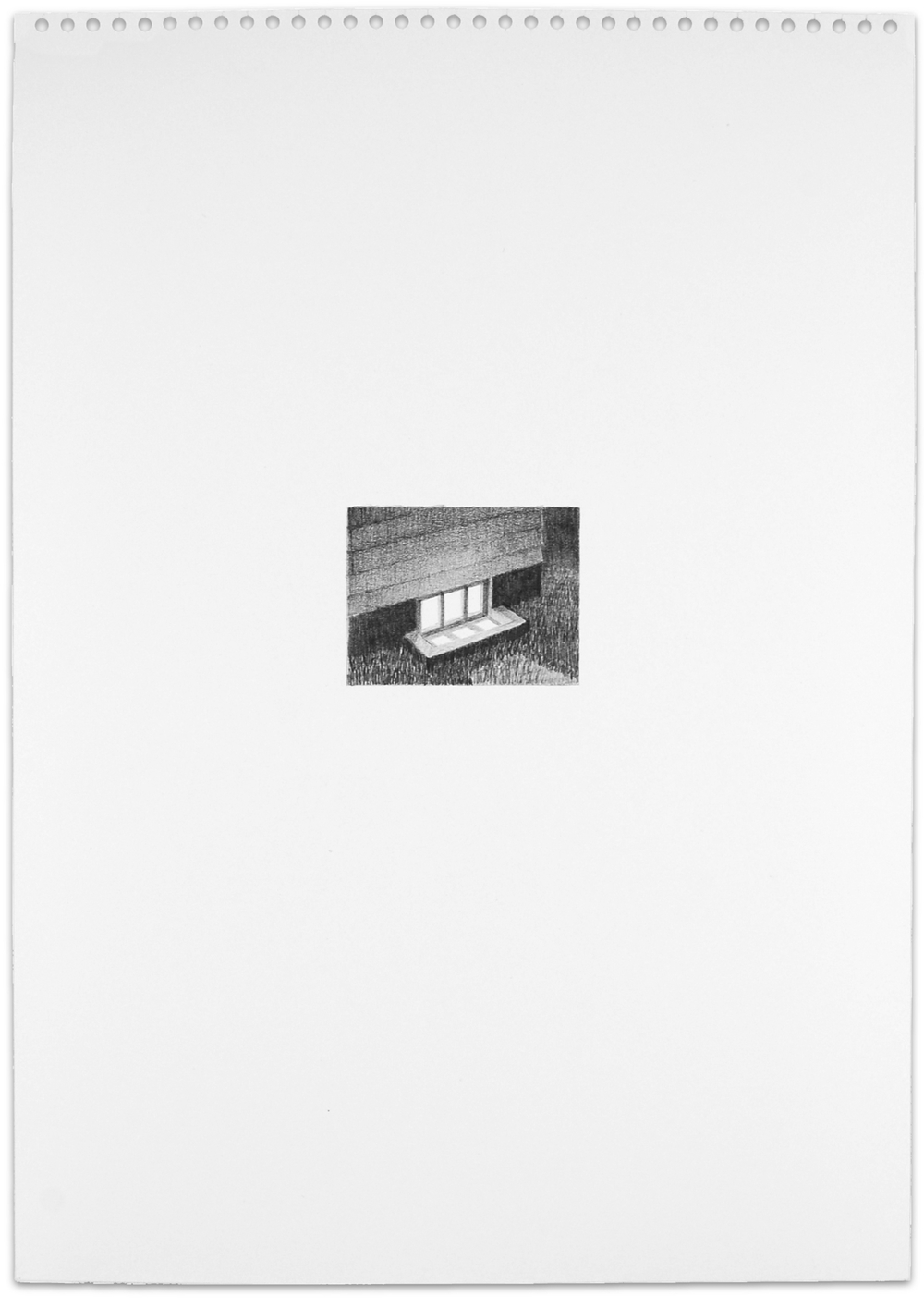 Secret (basement), 2013, 16.5 x 11.5, graphite on paper