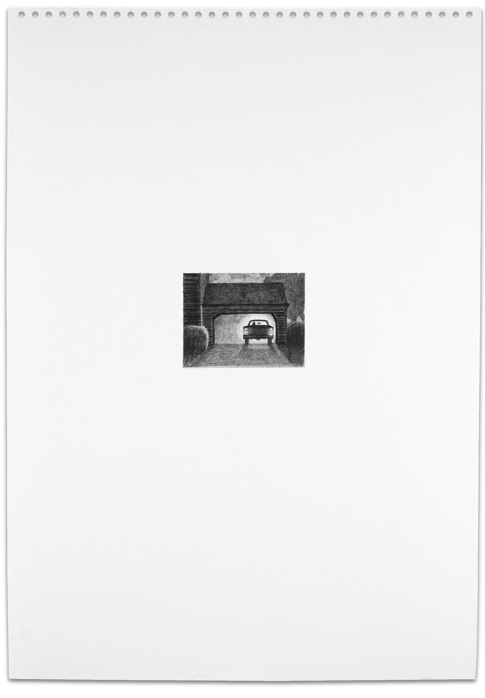 Secret (garage), 2013, 16.5 x 11.5, graphite on paper