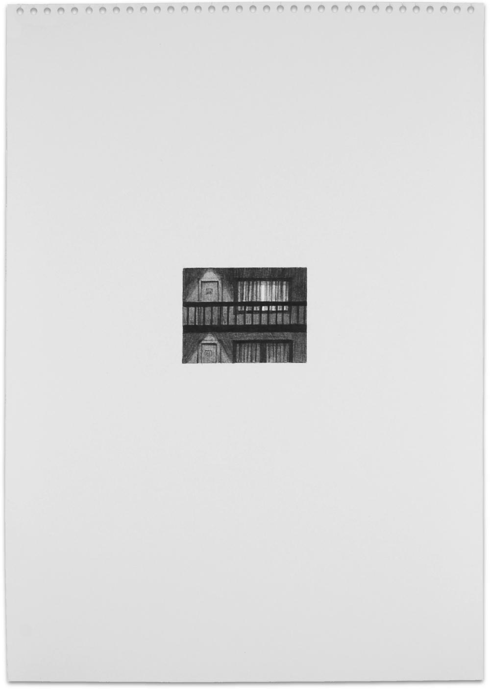 Secret (motel), 2013, 16.5 x 11.5, graphite on paper